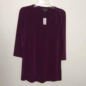 The Limited plum 3/4 length blouse